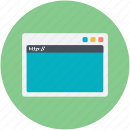browser, internet site, network station, site, website icon