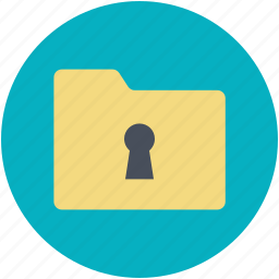 computer folder, file folder, information security, keyhole, privacy icon