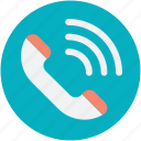 helpline, hotline, phone receiver, receiver, telecommunication icon