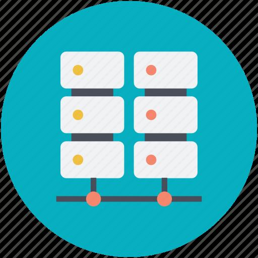 computing, multiprocessor, server, server hosting, server network icon