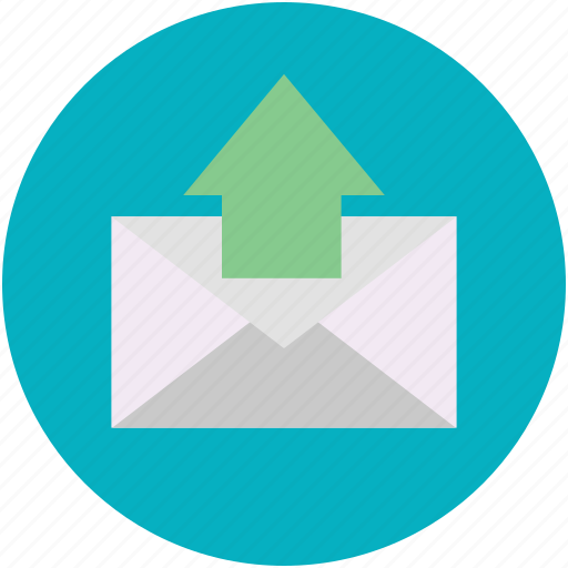 emailing, mail, message sending, online communication, up arrow icon