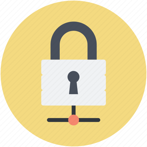 digital security, network, network security, padlock sign, sharing network icon