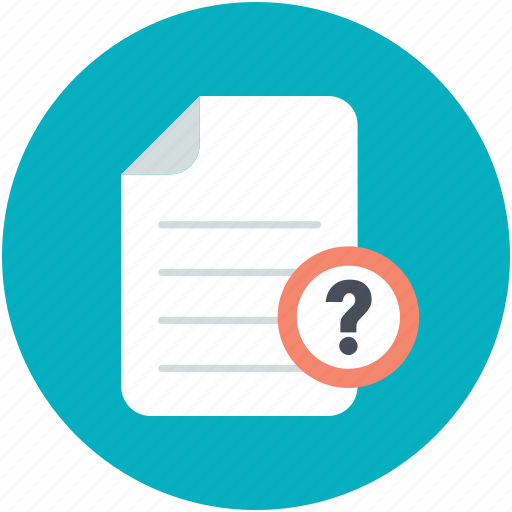 faq, form, query, question mark, questionnaire icon