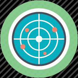 detector, microwave radar, monitor, radar, radiolocation icon