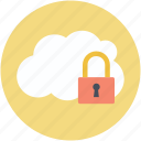 cloud computing, cloud identity, network password, privacy code, security concept icon