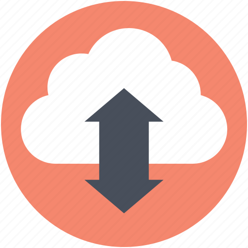 cloud computing, download, information technology, upload, wireless communication icon