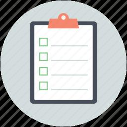clipboard, faq, form, query, questionnaire icon