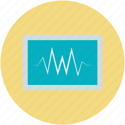cardiac frequency, ekg, electrocardiogram, heartbeat, rhythm icon