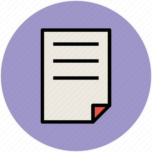 document, file, notes, paper, sheet, text sheet icon