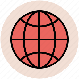 earth, global coverage, globe, international, planet, world map icon
