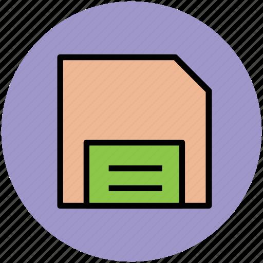 diskette, floppy, floppy disk, floppy drive, storage disc icon