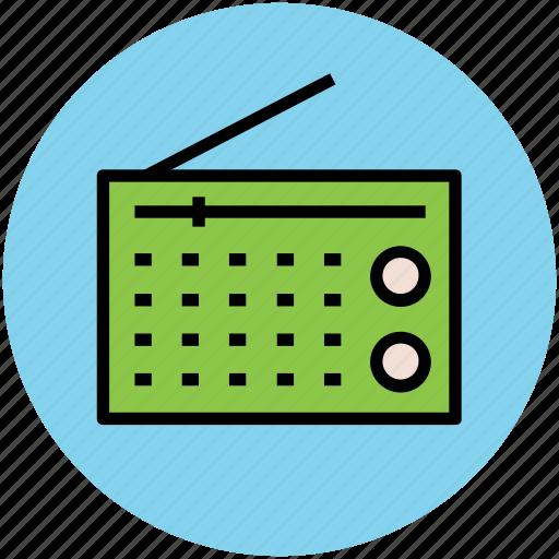audio transmission, radio, radio set, retro radio, technology, vintage radio icon