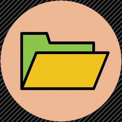 archive, computer folder, data storage, folder, opened folder icon