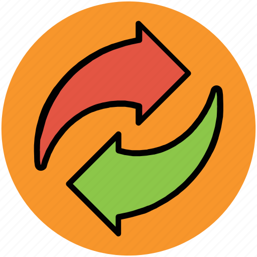arrows, communication, initializing, process, sync icon