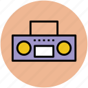 audio, boombox, cassette player, stereo, tape recorder icon