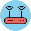 internet device, modem signals, router, wifi modem, wifi router, wireless modem icon