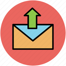 email, envelop, letter, outbox, outgoing email, up arrow icon