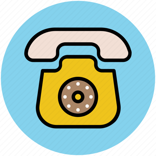 communication, landline, phone, retro telephone, telephone, telephone set icon
