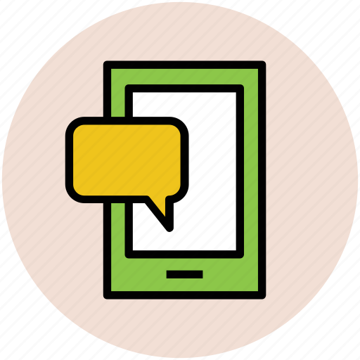 chat bubble, communication, mobile chat, mobile messaging, speech bubble icon