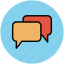 chat, chat bubbles, chatting, communication, messaging, speech bubbles icon
