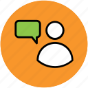 chat bubble, communication, speech, speech bubble, talking icon