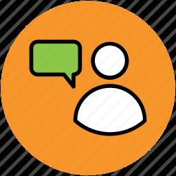 chat bubble, communication, speech, speech bubble, talking icon