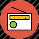 audio, entertainment, network, radio, radio set, wireless icon