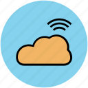 cloud, cloud computing, data storage, icloud, network cloud, wifi cloud icon