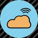 cloud, cloud computing, data storage, icloud, network cloud, wifi cloud icon
