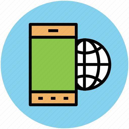 data storage, globe, mobile globe, mobile internet, mobile optimization, seo icon
