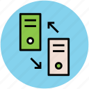 data sharing, data transfer, network, server sharing, share icon
