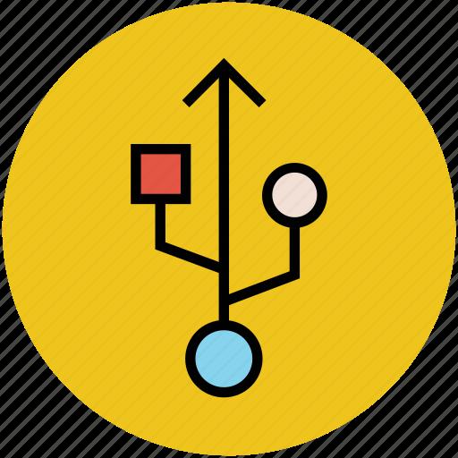 flash plugin, flash sign, usb port, usb sign, usb symbol icon