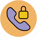 block call, call padlock, lock call, phone block, secure call icon