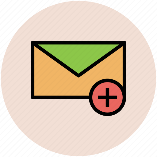 add email, envelop, letter, new email, plus sign icon