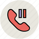 call hold, call pause, calling, communication, receiver icon