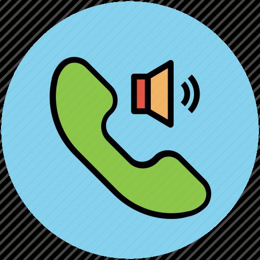 call sound, call volume, communication, receiver, volume icon