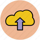 cloud computing, cloud storage, cloud uploading, dropbox cloud, uploading icon