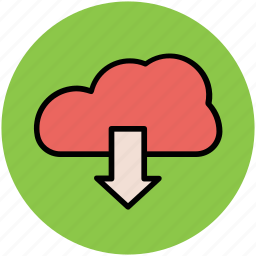 cloud data, cloud download, cloud downloading, data transfer, downloading, storage cloud icon