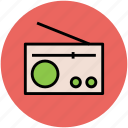 audio, network, radio, radio set, wireless device icon