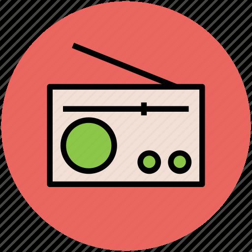 audio, network, radio, radio set, wireless device icon