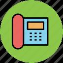 communication, landline, phone, telephone, telephone set icon