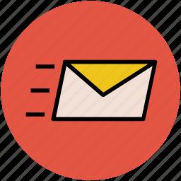 email, envelope, letter, sending, sending email, sent email icon