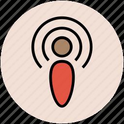 network signals, radar signals, signals, wifi signals, wifi tower icon