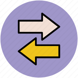 arrows, directional, directional arrows, indicators, left and right, left arrow, right arrow icon