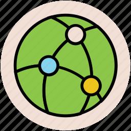 global sharing, global workstation, network sharing, universal network, worldwide networking icon