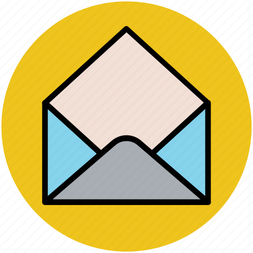 email, envelop, inbox, open letter, read email icon