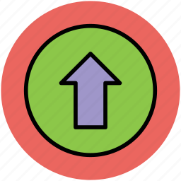 arrow, directional arrow, navigation arrow, up arrow, upload, uploading icon