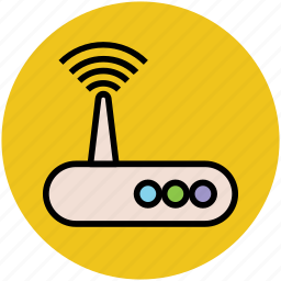 internet device, modem device, modem signals, wifi modem, wifi router, wlan icon