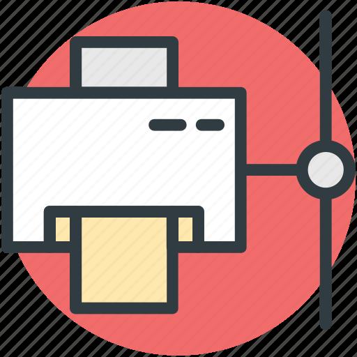 compute system, network, network printer, network system, printer icon