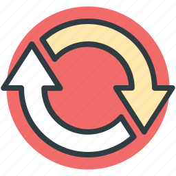 in process, loop, process arrows, refresh, reload, update icon